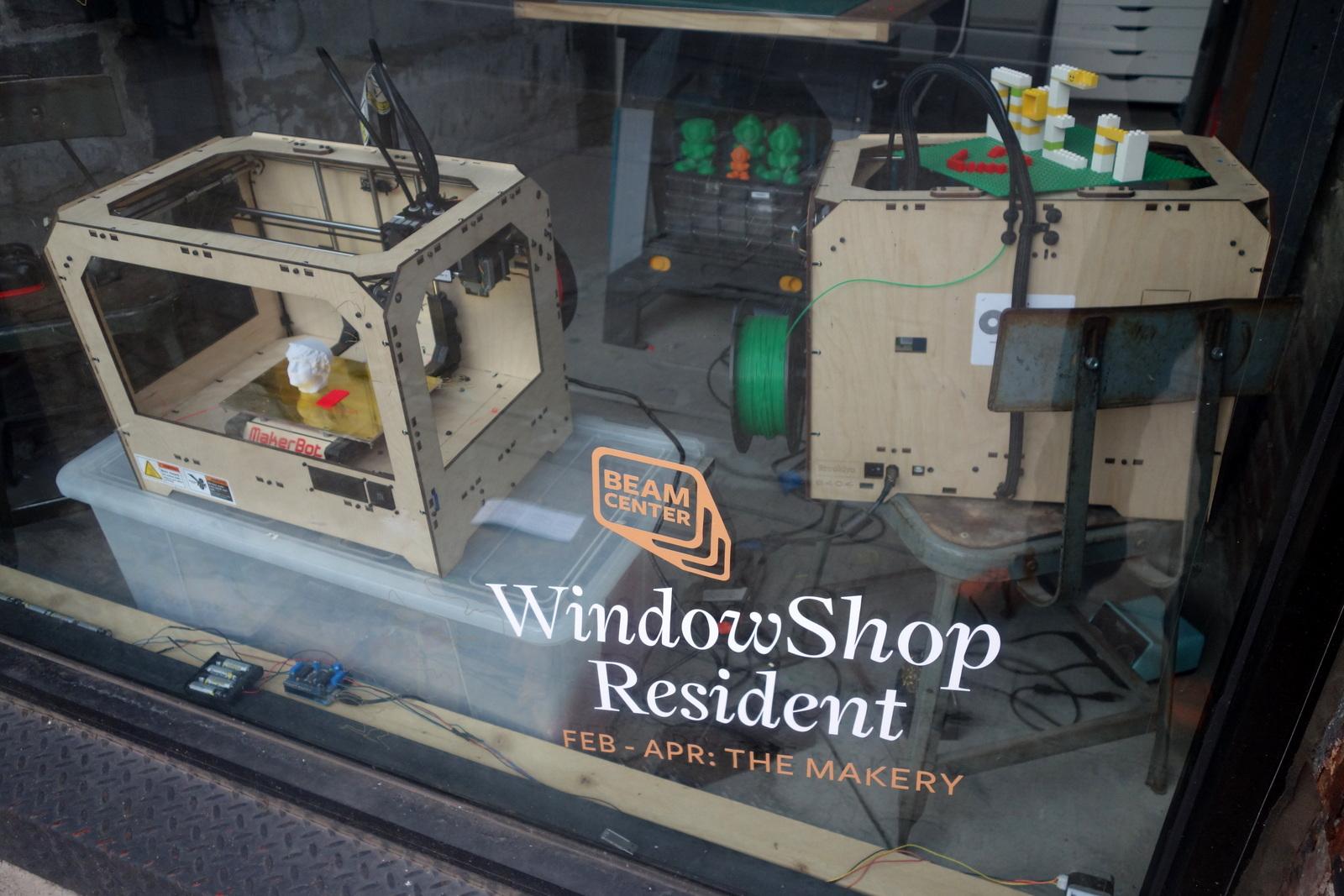 NYC Makery window resident
