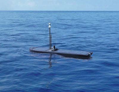 hybrid wave- and solar-propelled unmanned ocean robot