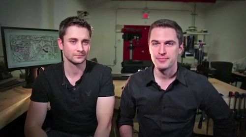 Photon co-inventors Adam Brandejs (left) and Drew Cox