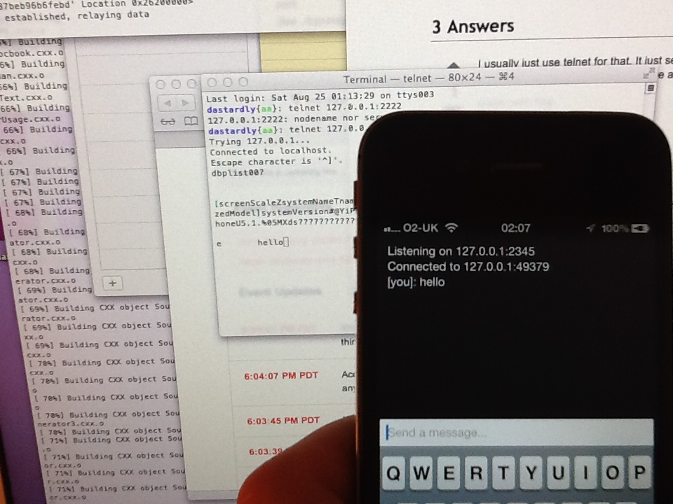 iPhone talking directly to my BeagleBone using PeerTalk