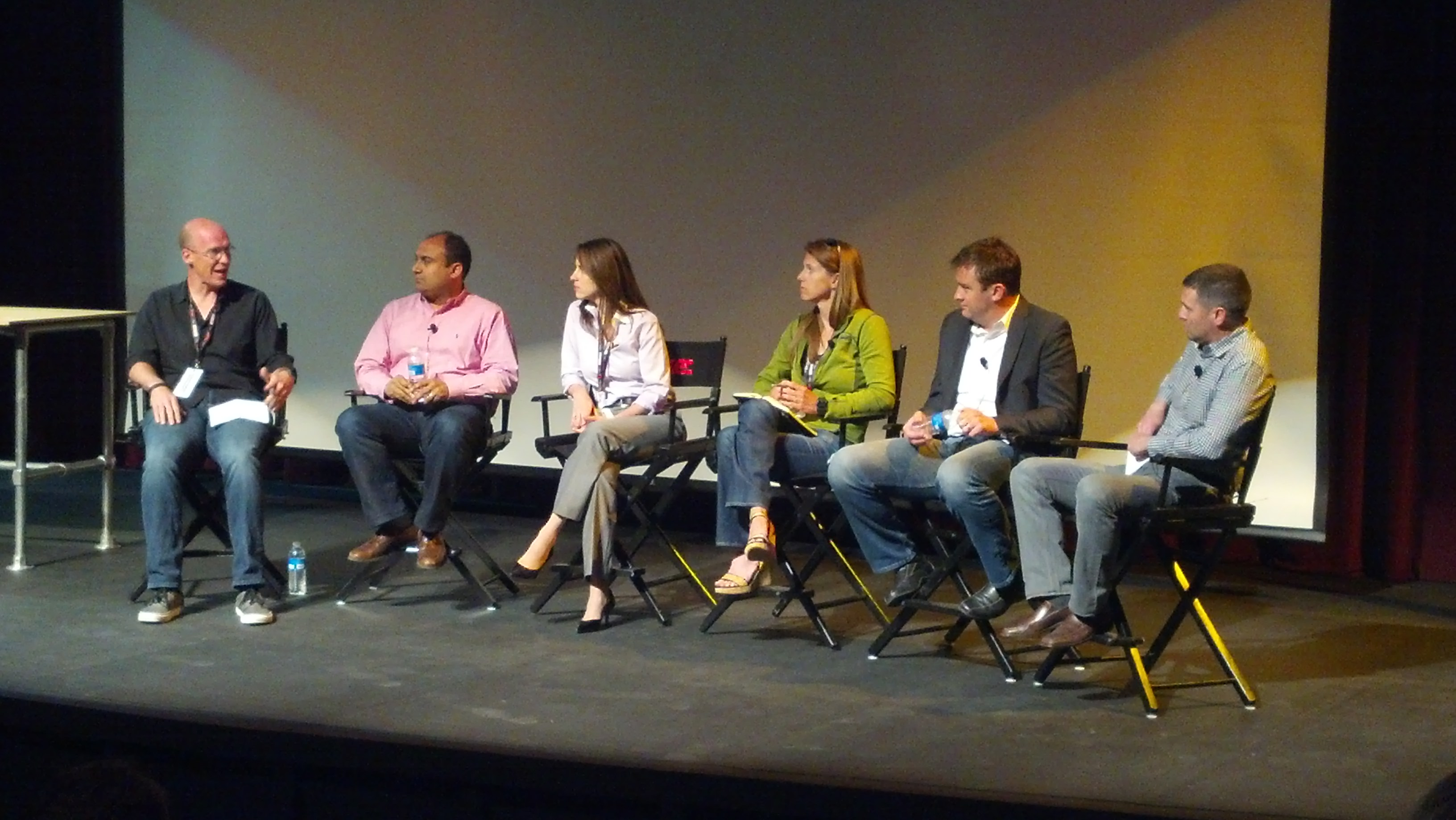 Eric Klein (Lemnos Labs) moderates a panel of five hardware venture capitalists.