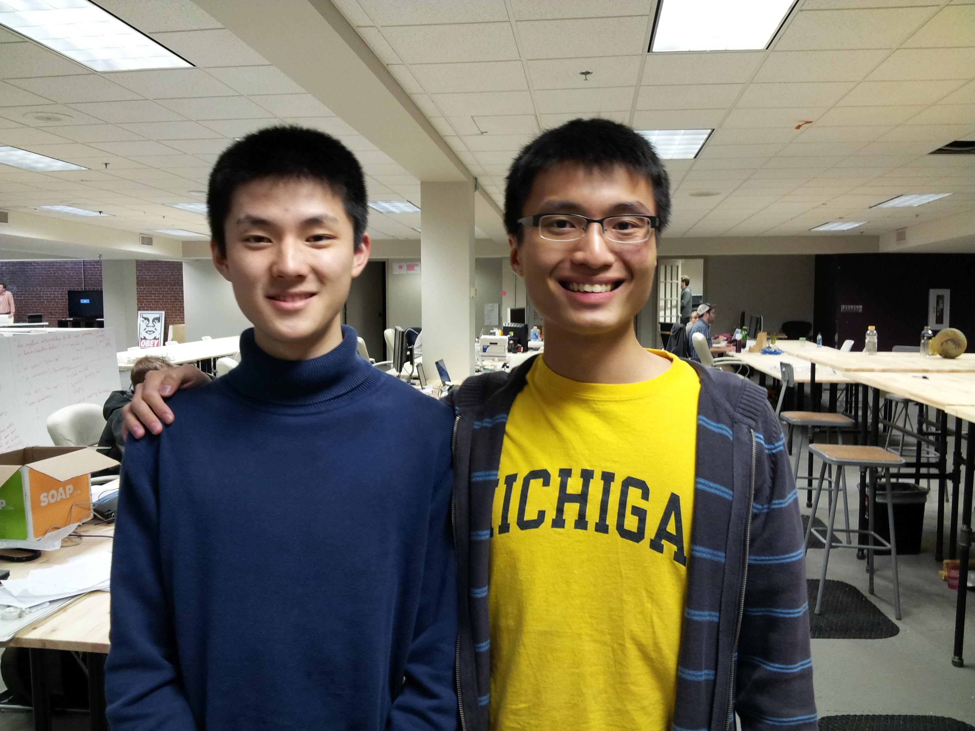 Lai Xue, left, and Darren Lim