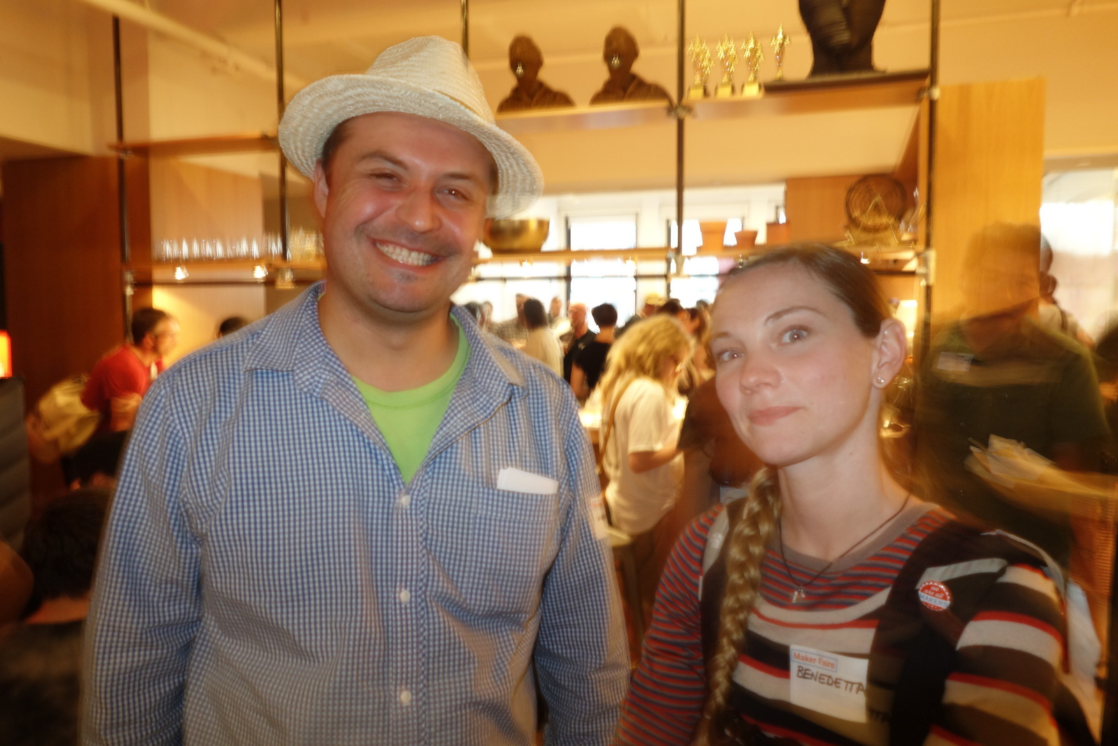 Benedetta Piantella and Marco Cosio, two of the many dozen makers who showed up to show their support. Thank you!