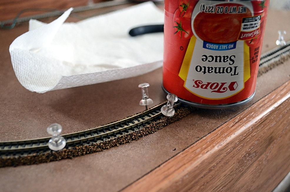 Two essential, yet often overlooked, tools for quality tracklaying: pushpins and canned tomato products.