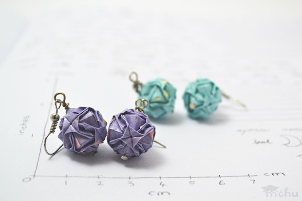 01_miniature_origami_ball_earrings_flickr_roundup