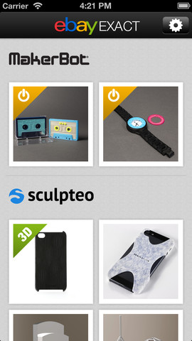Ebay is bringing an 3D print marketplace to the iPhone.