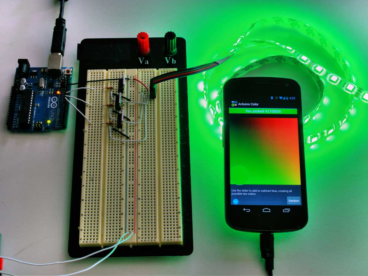 Android arduino led strip lights make