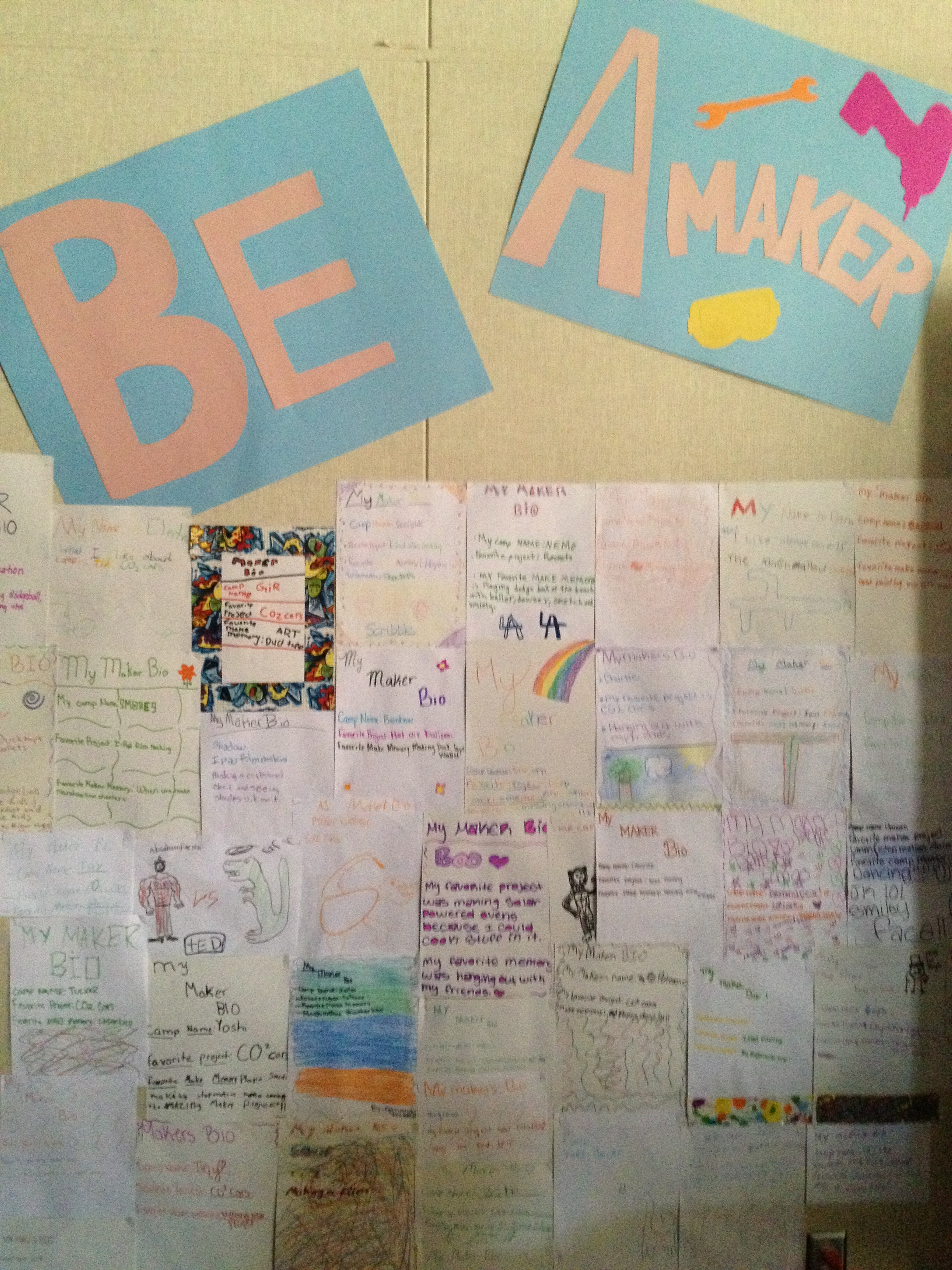 Comstock Maker Camp Be a Maker wall