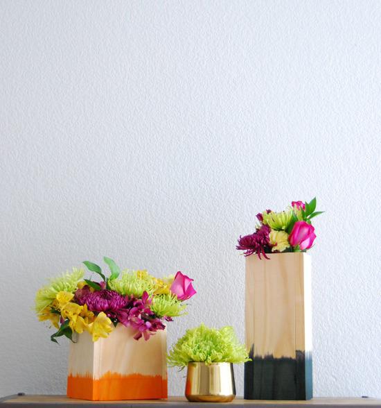 Dip dyed vase-1