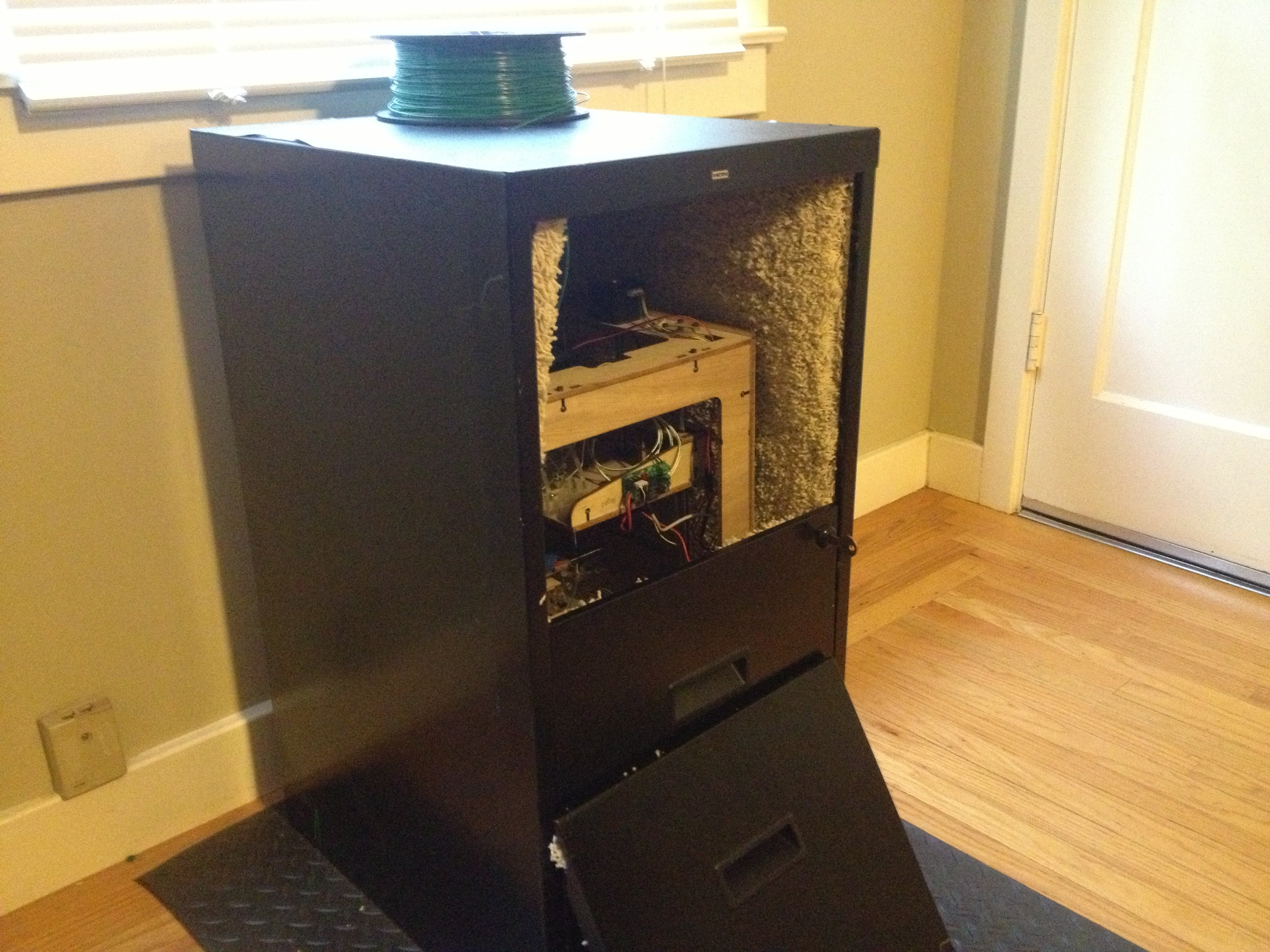 3d Printer Sound Dampening Enclosure From An Old Filing