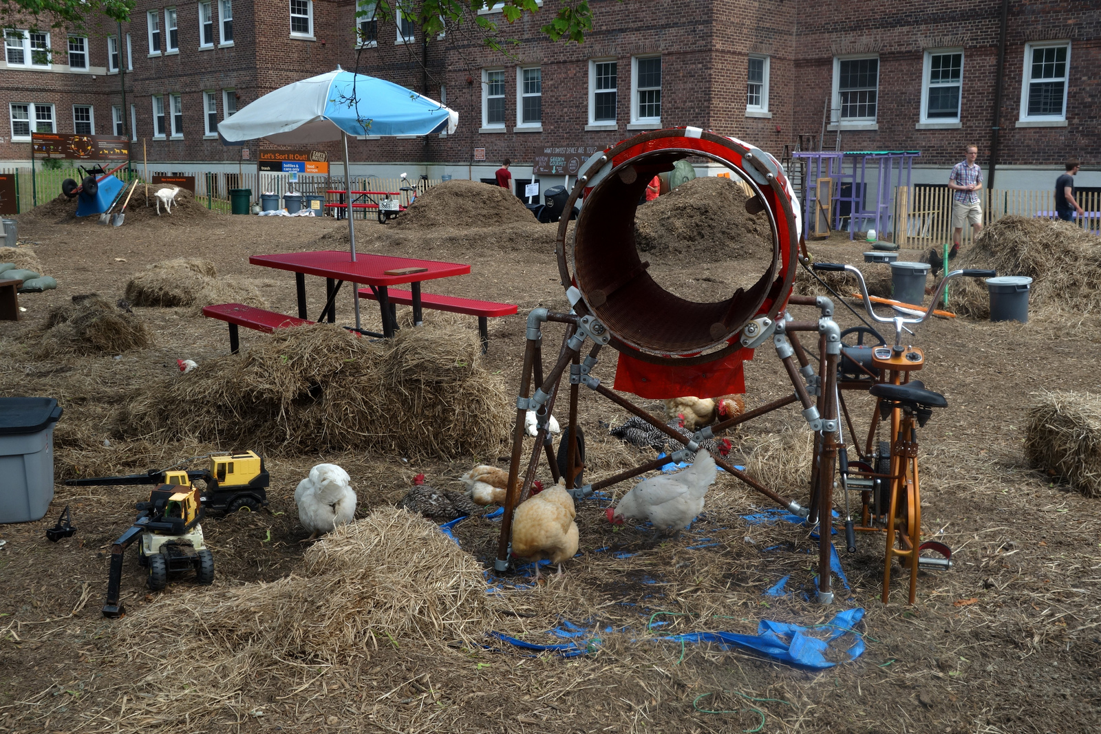 """Earth Matter explore """"the art and science of composting"""" and you can encounter this wonderful science on Governor's Island south of the Nolan Green."""