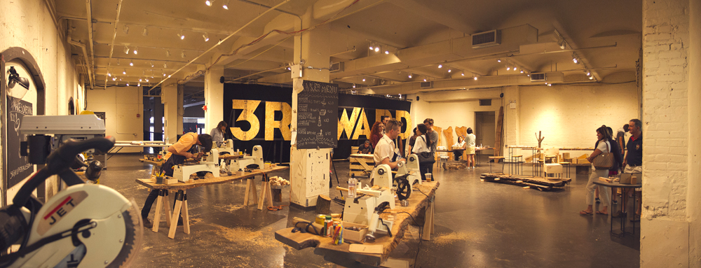 """Brooklyn-based 3rd Ward is currently holding a """"Make 'N' Take"""" pop-up shop in the Chelsea Market in Manhattan. Workshops include making candles, cutting boards, and autoprogrezzione chairs, among other arts."""