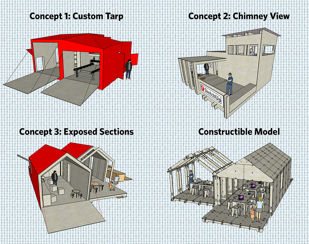 The conceptual evolution of the SketchUp WikiHouse.