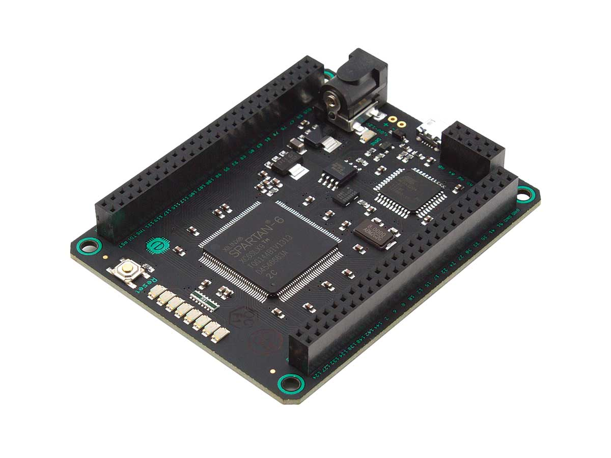 Slightly more expensive than the Papilio One, Embedded Micro's Mojo board is a  correspondingly more capable platform.