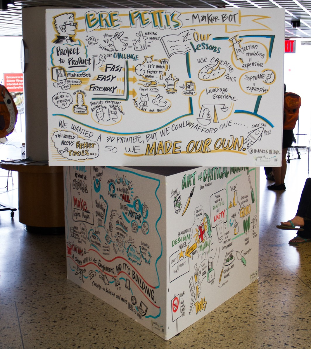 The tower of drawings from the Innovation Stage