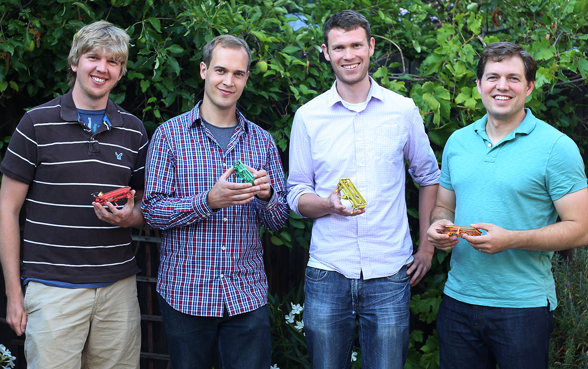 Left to Right: CTO Kevin Peterson, CEO Nick Kohut, COO Andrew Gillies, Chief Engineer Paul Birkmeyer.Photo: Dash Robotics