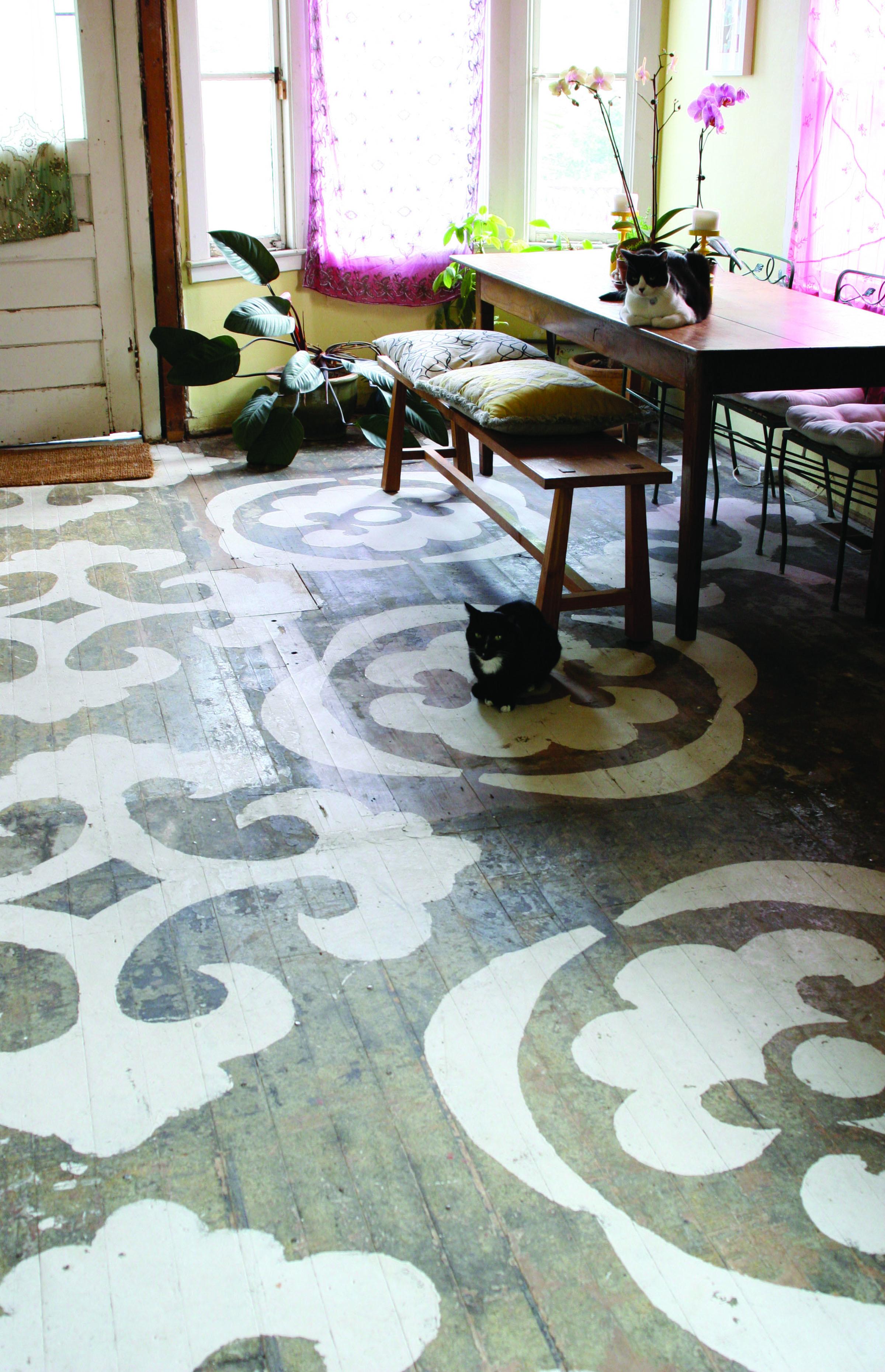 Catherine Weis Painted Floor