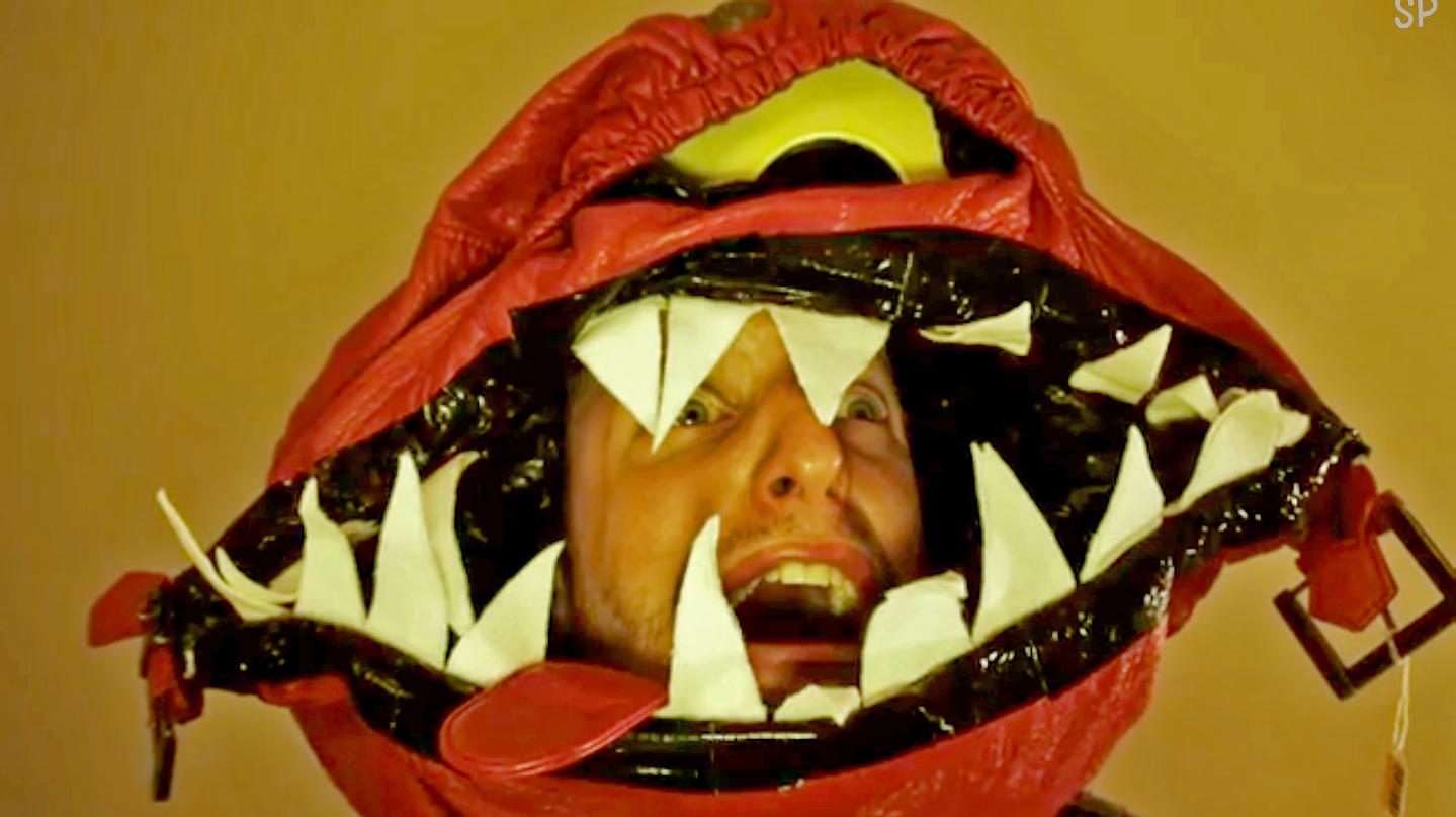 bag monster head