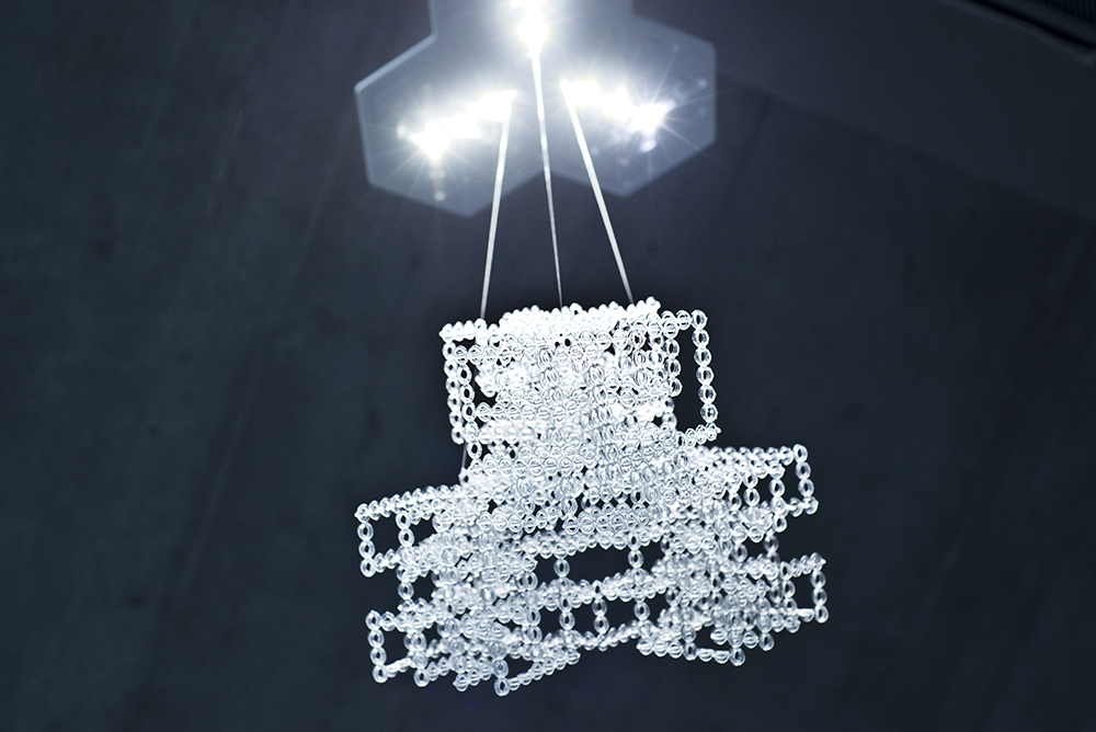 A large chandelier printed by a small 3D printer, using a technique developed at MIT