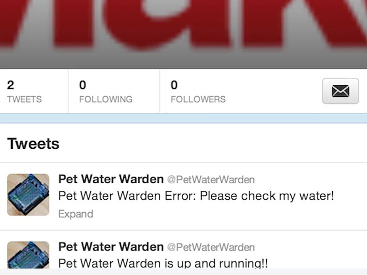 Pet Water Warden