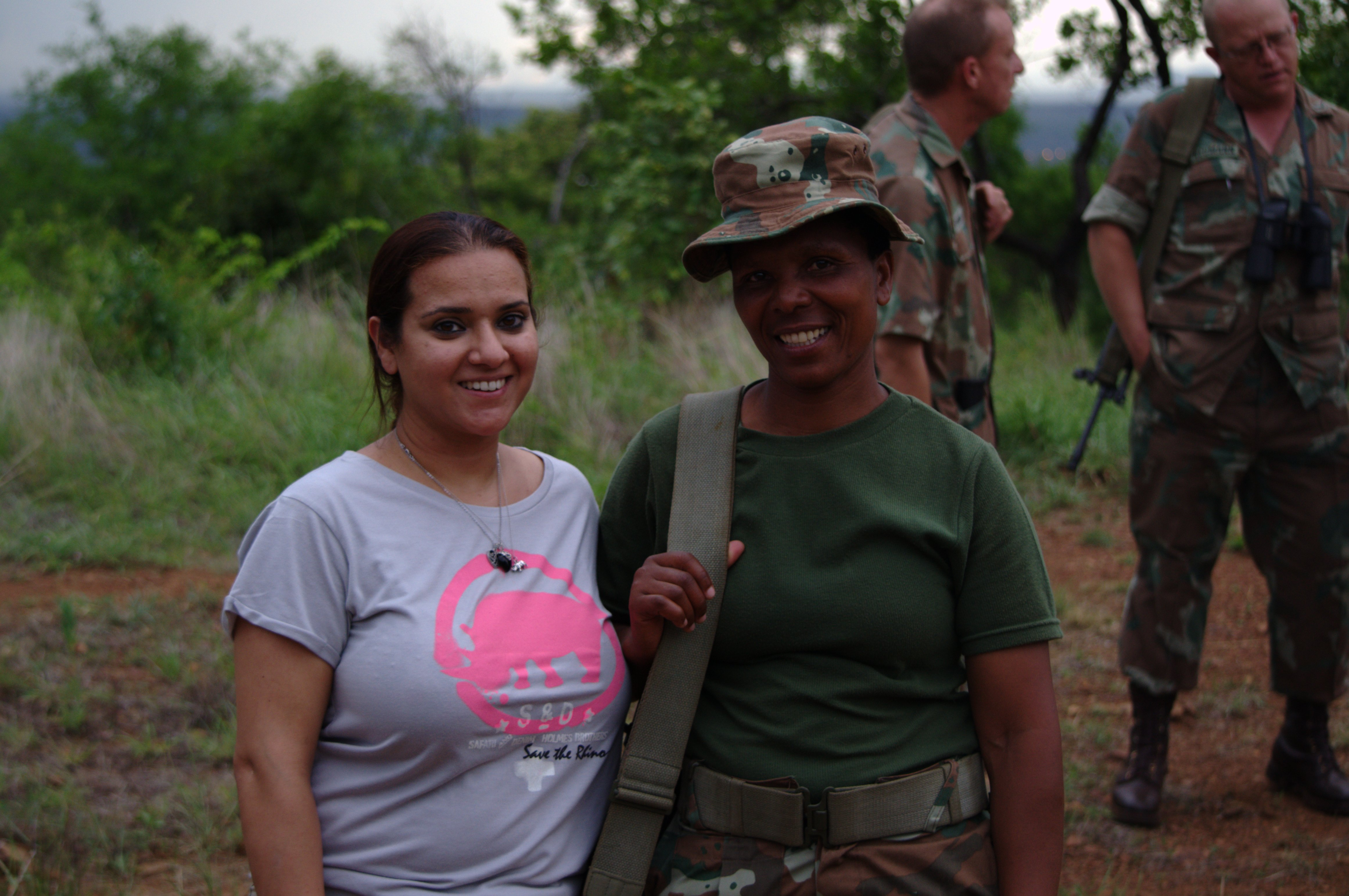 Princess Aliyah meets with female combat troop.