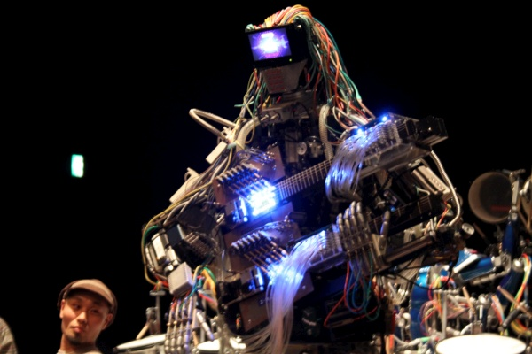 Z-Machines, a robot rock band, headlined the Maker Faire with several concerts each day.