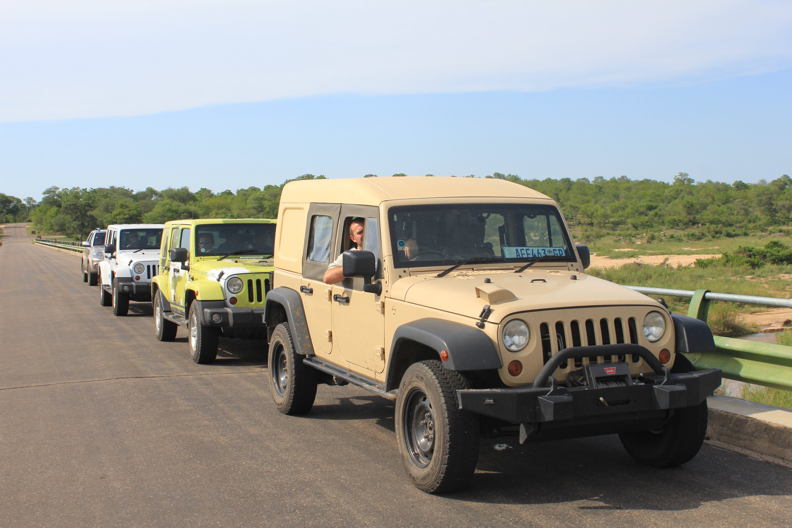 UAV Challenge's convoy to the Mozambique border.