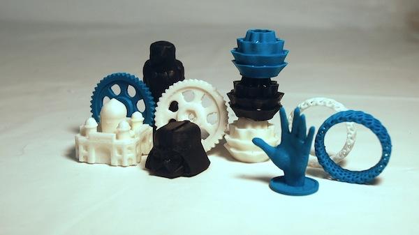 3D Prints using MakeSolid materials.