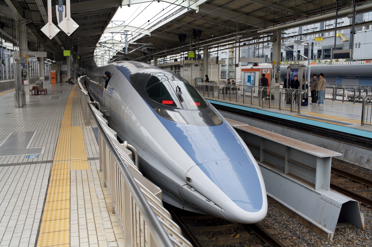 Shinkansen train. Photo by Sam Doshi.
