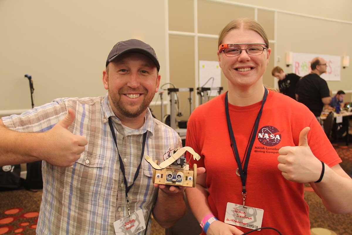 John Stone & Jamie Szafran team up to build a SumoBot