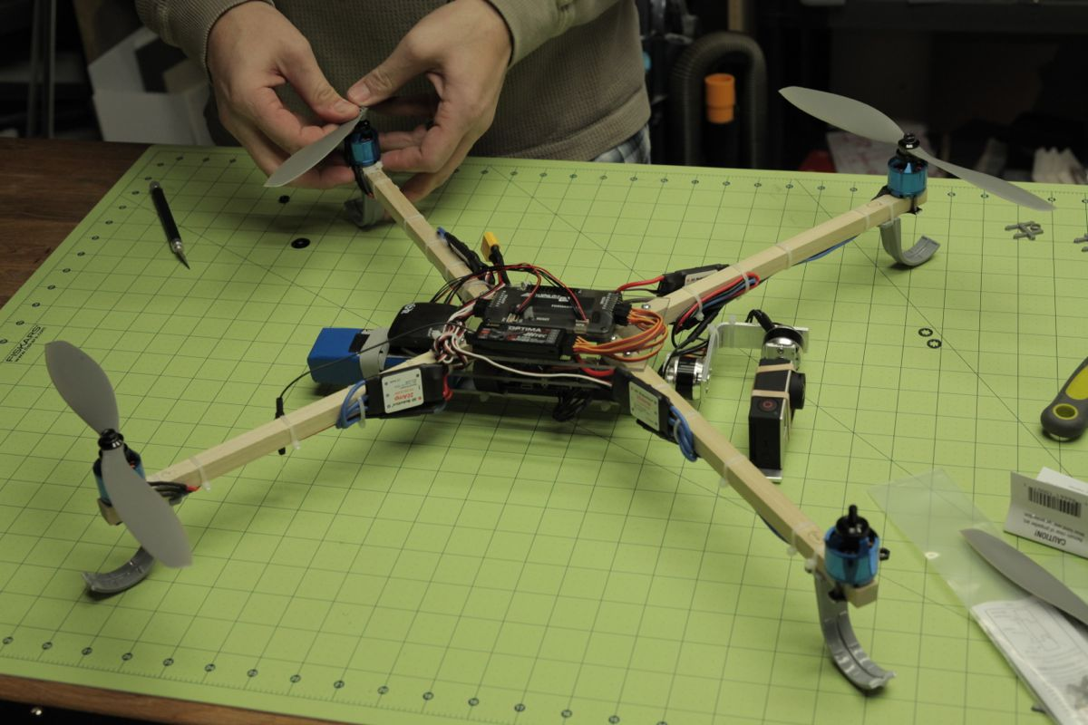 Build a Quadcopter Drone with a Self-leveling Camera Gimbal