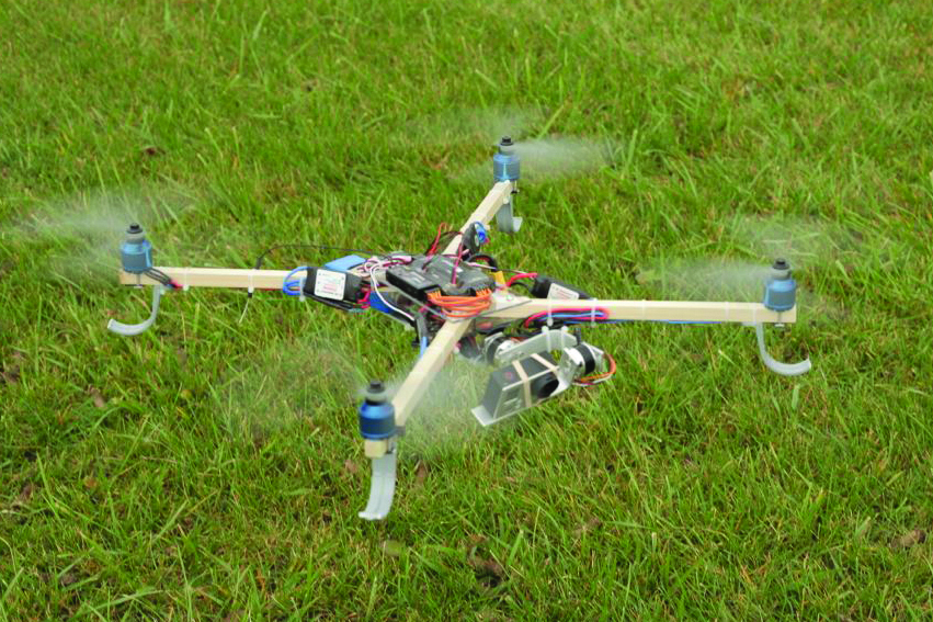 diy hardware store drone with stabilized camera