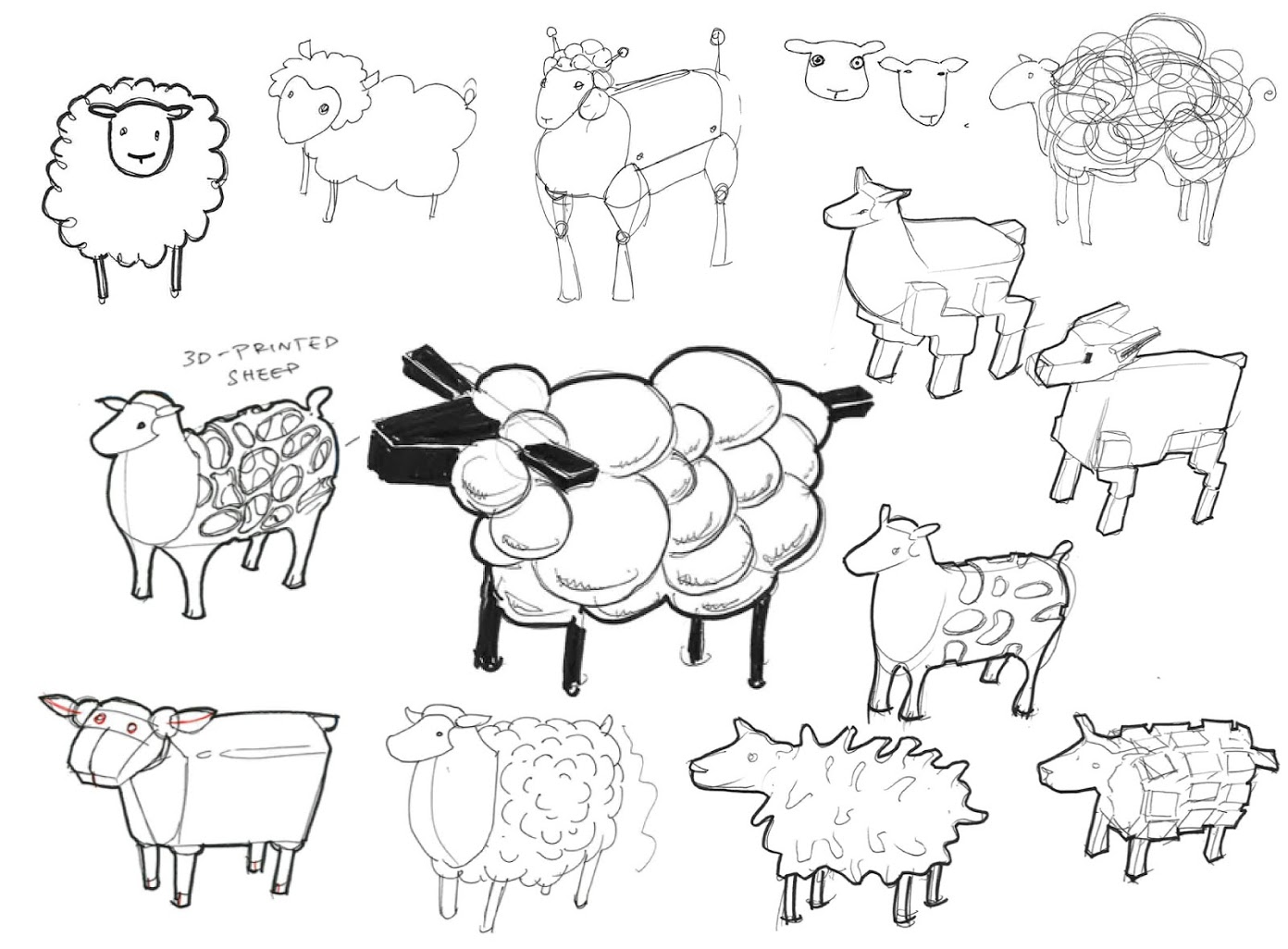sheep shape designing a divine 3d ovine for leo make