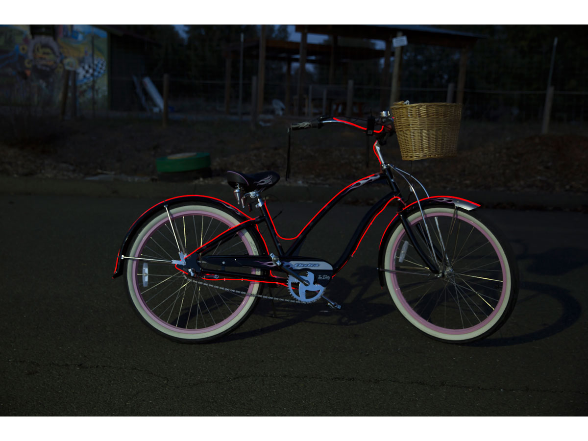 Make a Glow Bike with EL Wire