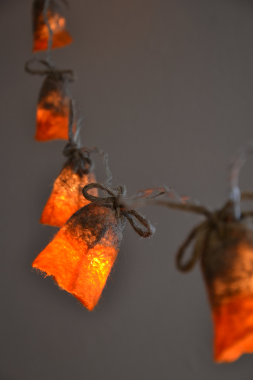 Felted Strings of Lights Make: