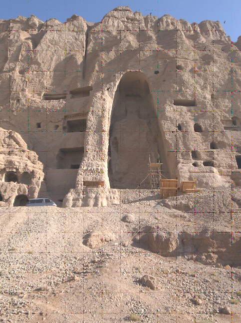 The niche for the smaller, 35-foot Buddha.