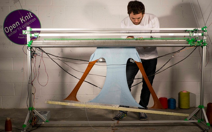OpenKnit: An Open Source Knitting Machine Make:
