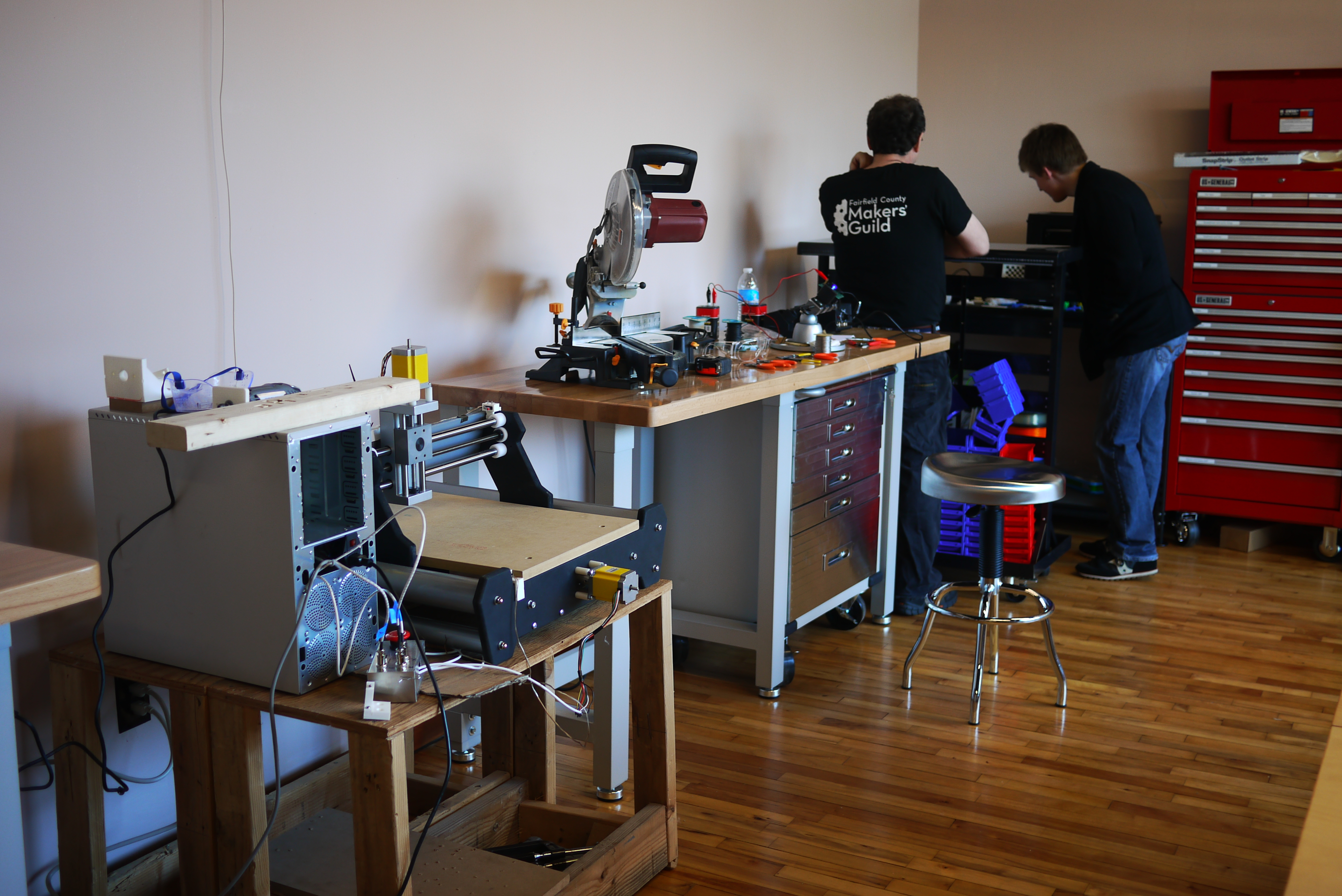 These workshop tools are located in the second, smaller room in the makerspace.