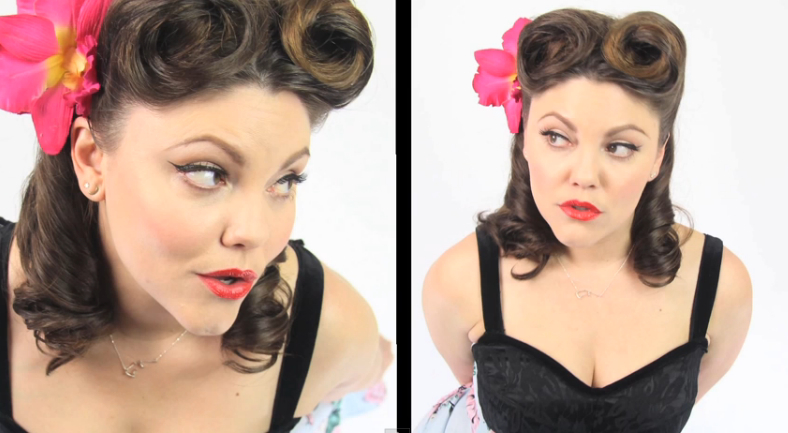pin up hair and makeup