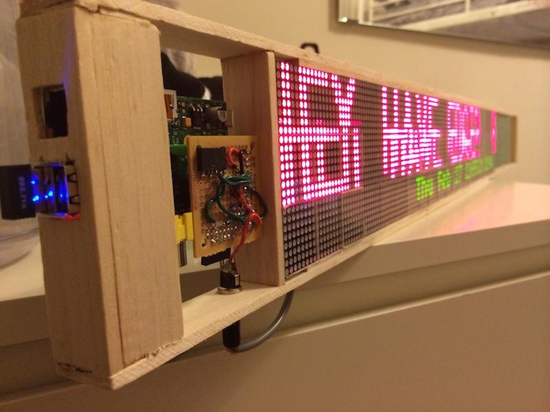 Almost finished LED Matrix
