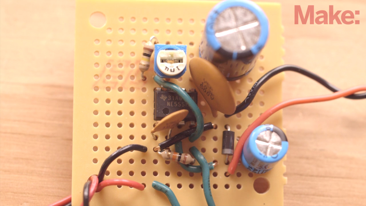 A simple circuit built around the venerable 555 timer driving a modified servomotor and you have yourself a Toothy Toothbrush Timer project!