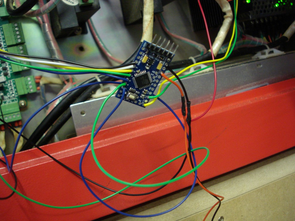 Hacking a laser cutter using an Arduino