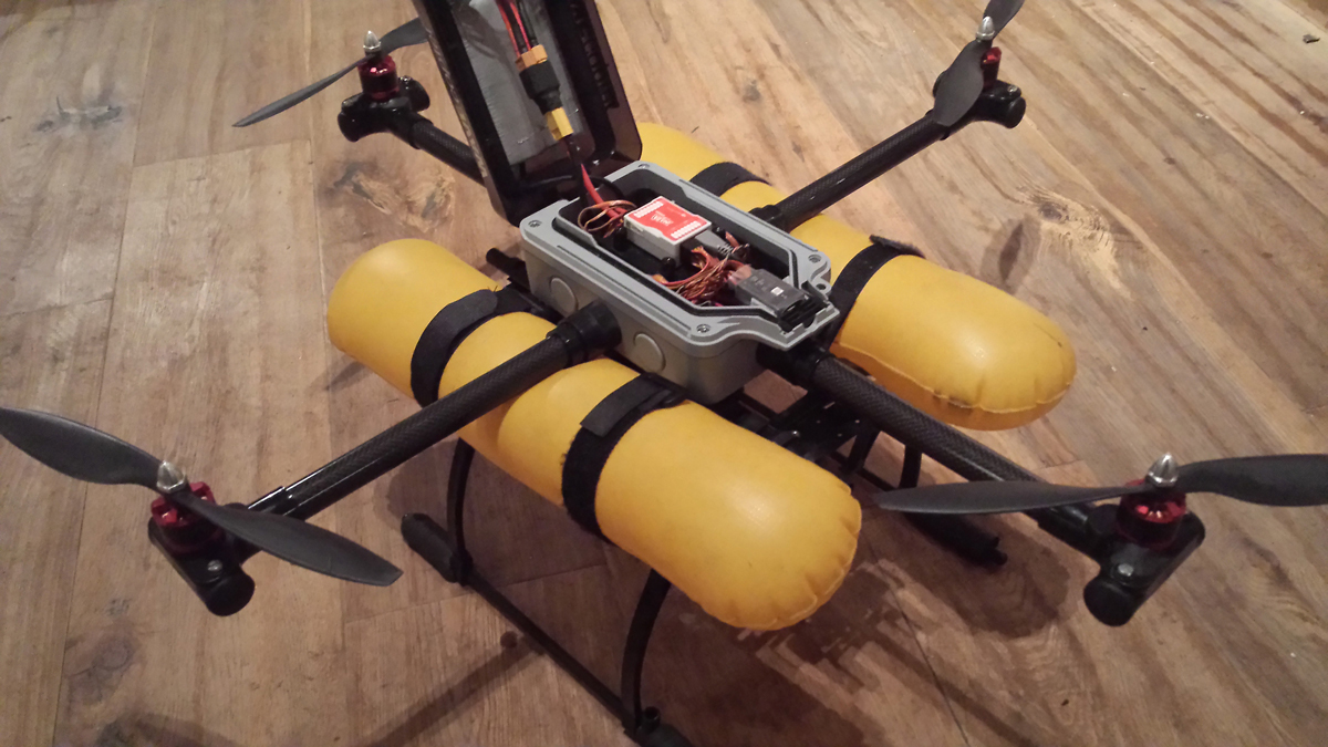 WAVEcopter: A Waterproof Quadcopter