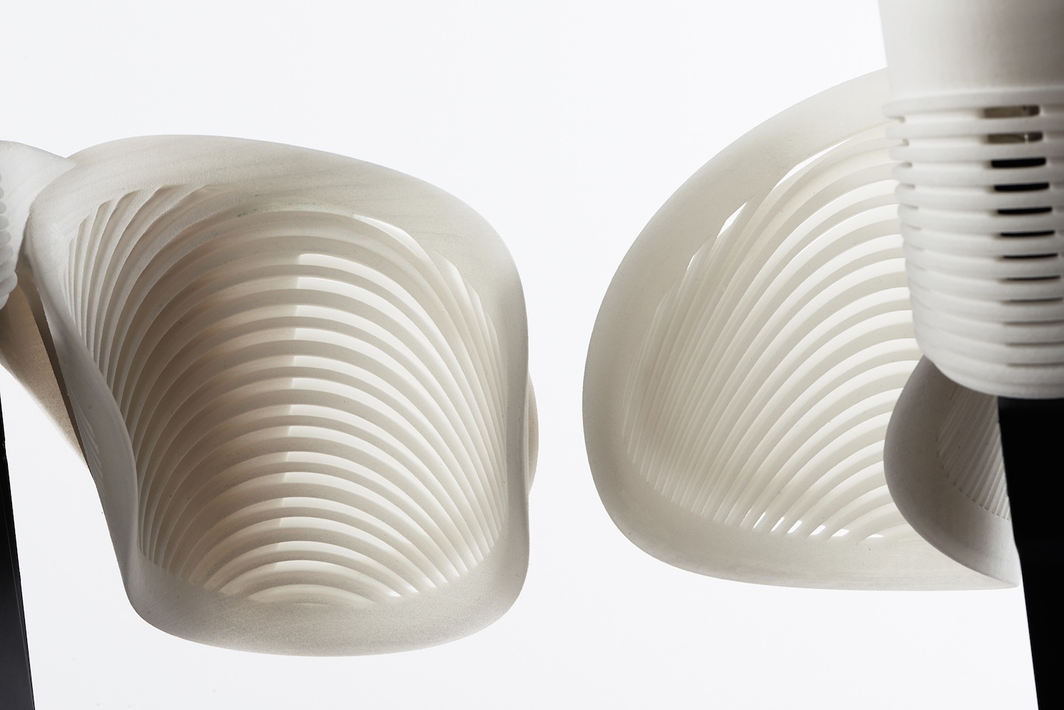 3D-printed thigh sections of  the Ekso suit.