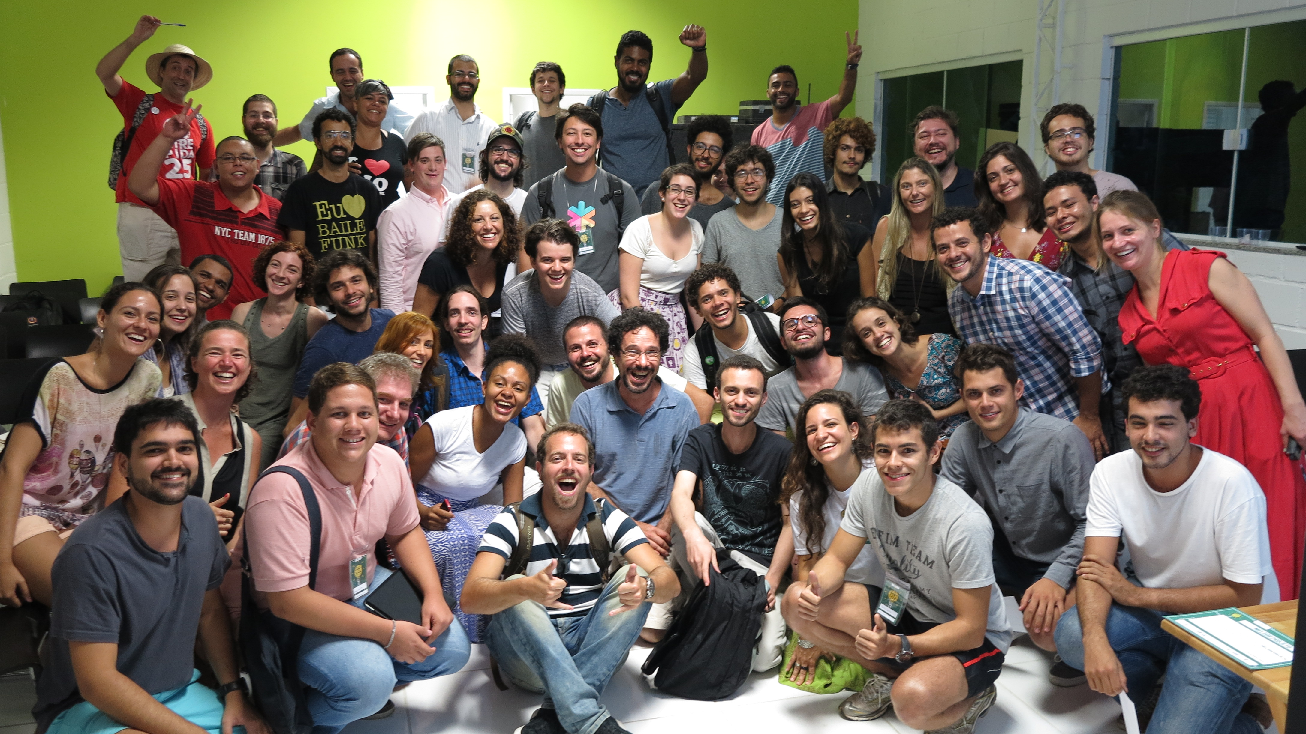 The 36 Rio based designers, engineers, makers, and thinkers along with our crew.