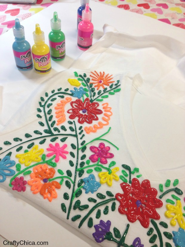 How to faux mexican style embroidered shirt make