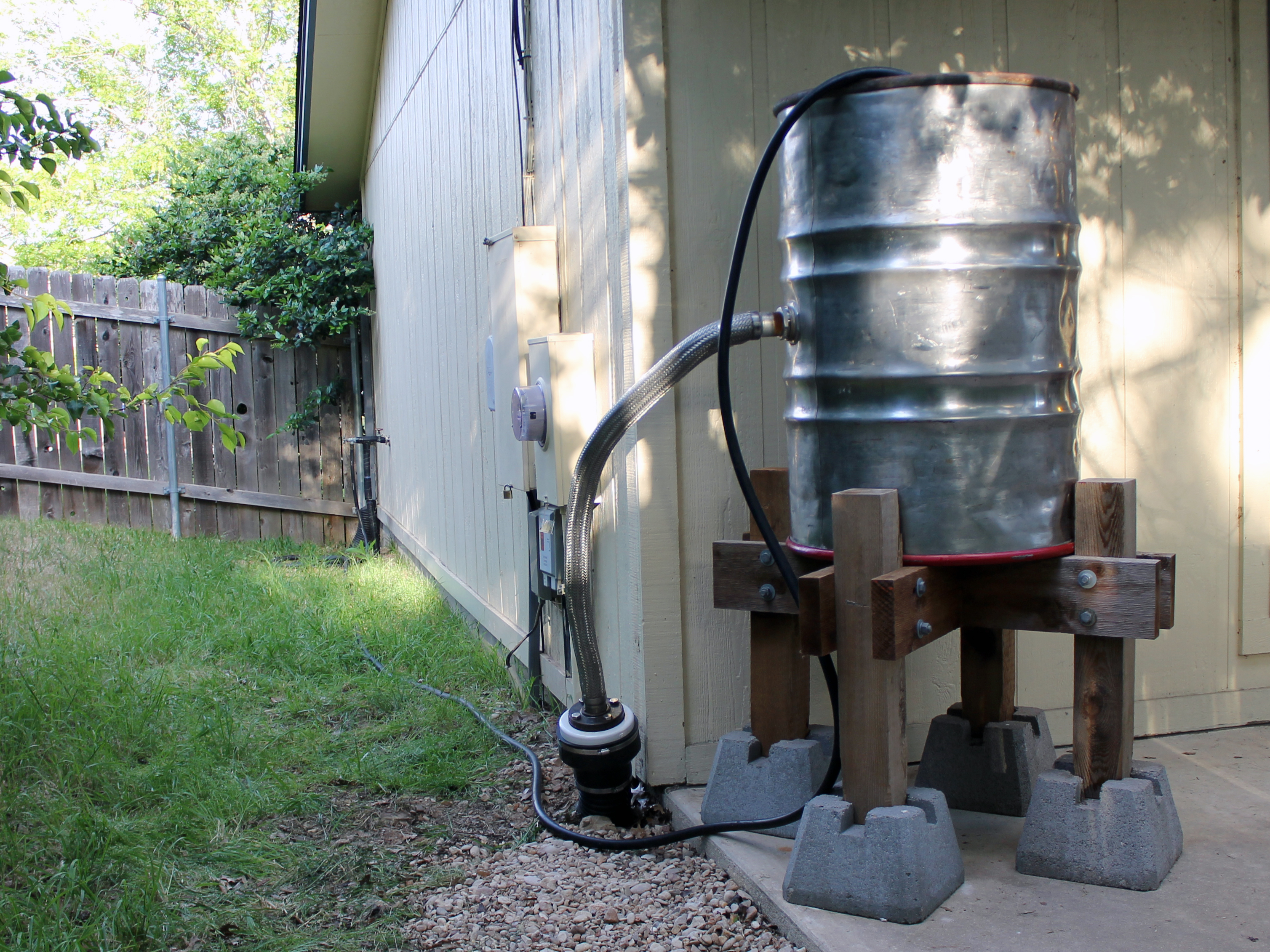 Stainless Steel Rain Barrel