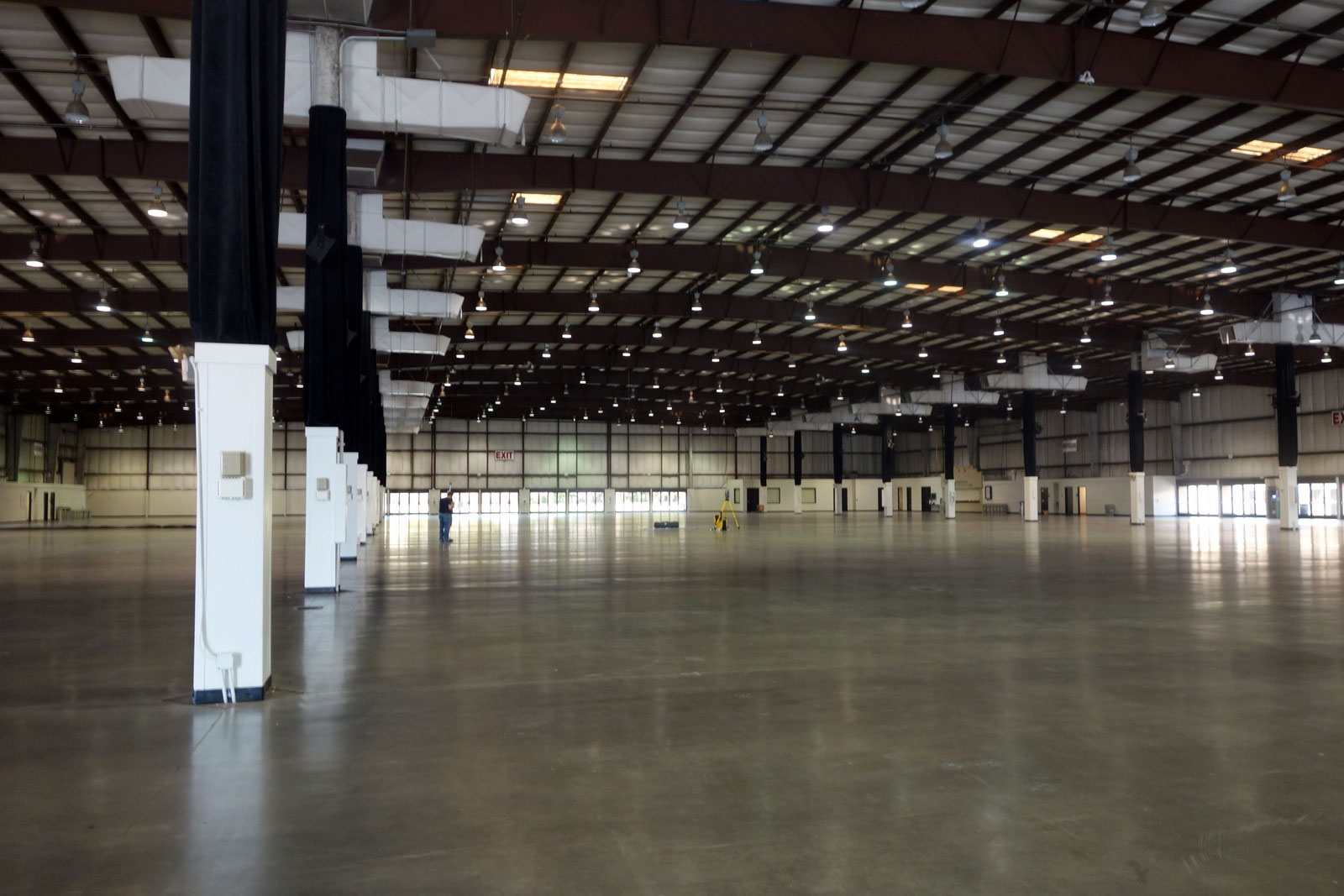 Expo Hall, empty and awaiting the arrival of 300+ maker projects.