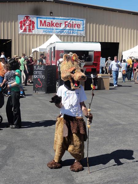 Angela Hawthorne wolf costume Maker Faire Bay Area 2013