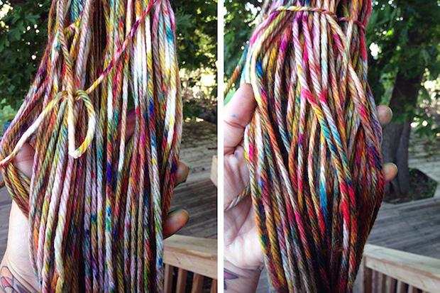 mypapercrane_yarn_dyeing